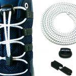 lacets élastiques sans noeuds blancs