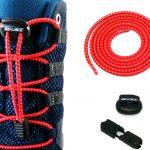 lacets élastiques sans noeuds rouges