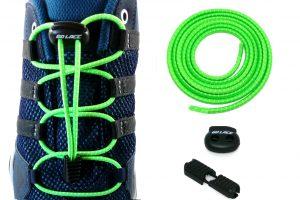 lacets élastiques sans noeuds verts