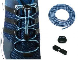 lacets élastiques sans noeuds bleus