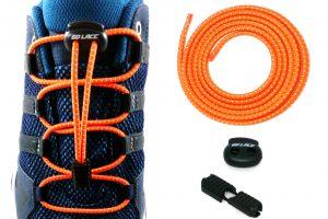 lacets élastiques sans noeuds oranges